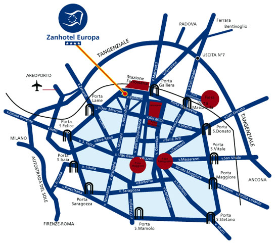 Zanhotel Europa | Hotel 4 stelle Bologna | Stazione Centrale